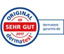 Dermatest-Siegel für unser basisches Körperpflegesalz BasenSalz.